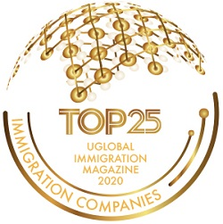 top 25 immigration companies badge