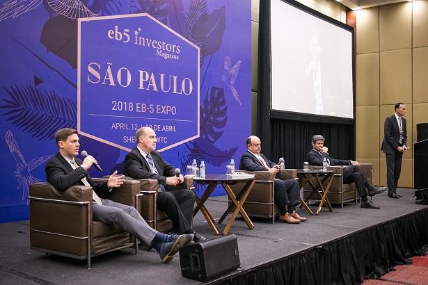 Panelists at EB5 & Uglobal Immigration Expo Sao Paulo