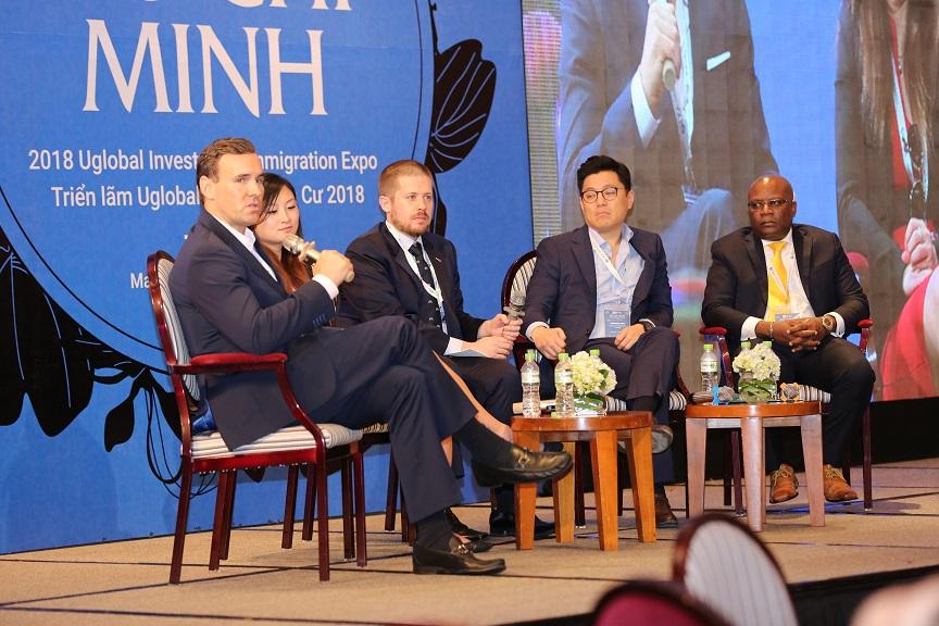 Panelists at Uglobal Immigration Expo Ho Chi Minh City